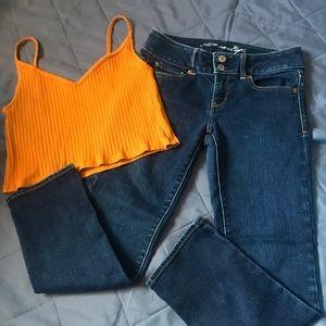 Halter top and Jean bundle